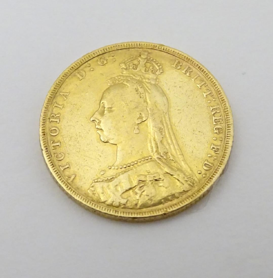 An 1892 Gold Sovereign, Melbourne Mint. Sold For £320