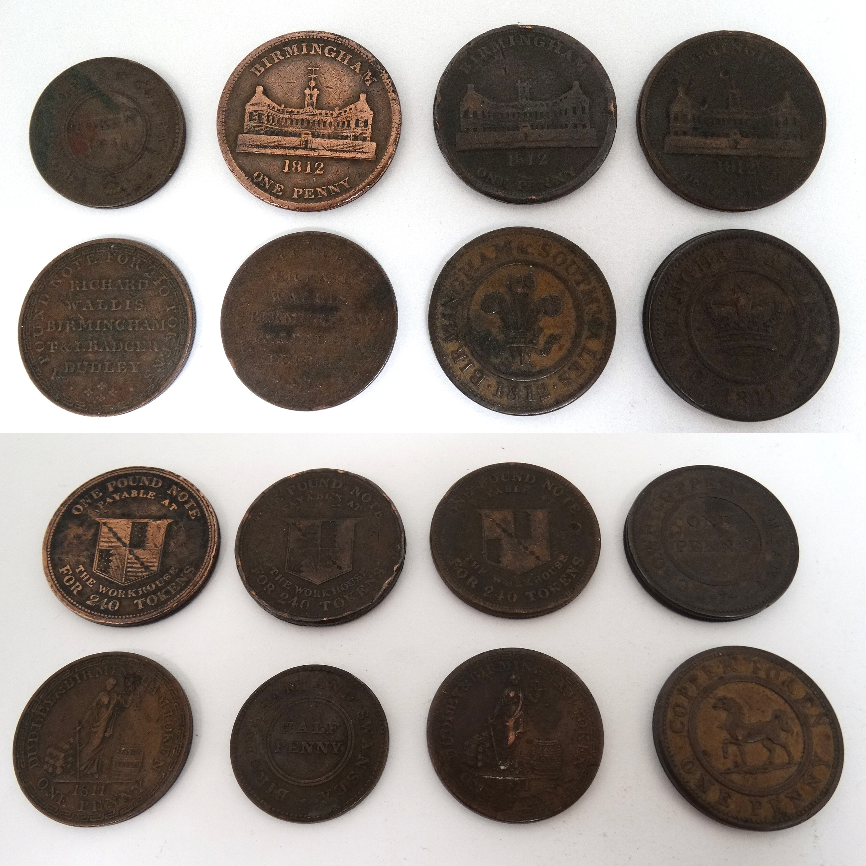 Collection Of 18Th And 18Th Century Trade Tokens Sold For £1800