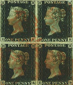 Victorian Penny Blacks Sold For £850