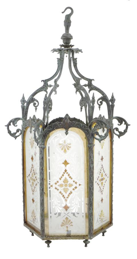 19Th Century Hall Lantern Sold For £800