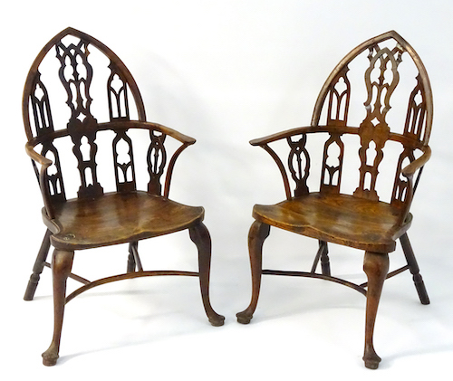 Two 18Thc Gothic Windsor Chairs, £8000